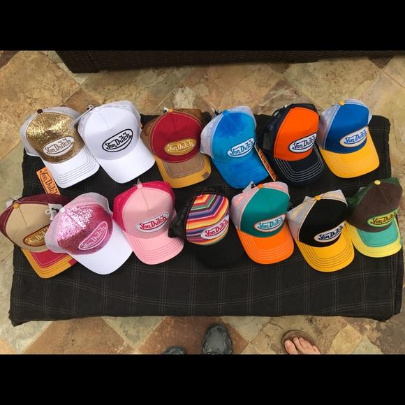 VON DUTCH BRAND NEW AUTHENTIC BASEBALL CAP TRUCKER HAT CORDUROY WHITE BLACK MESH